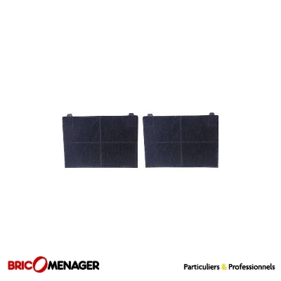 lot de 2 filtres à charbon  fc300 c00058794 c00094514  190x135x20mm pour hotte ariston indesit roblin